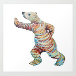 Calligraphic Bear Art Print