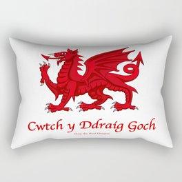 Cwtch y Ddraig Goch - Hug the Red Dragon Rectangular Pillow