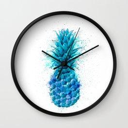 Blue Pineapple Wall Clock