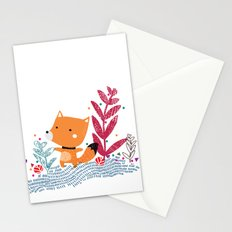 Foxy Illustration Stationery Cards