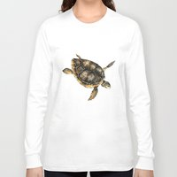 sea turtle Long Sleeve T-shirts featuring Sea turtle by Anna Yudina