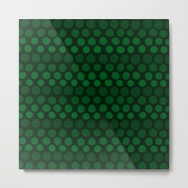 Emerald Green Subtle Gradient Dots Metal Print