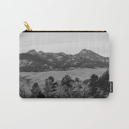 Wyoming Landscape In Black And White Carry-All Pouch
