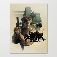 metal gear Canvas Prints featuring METAL GEAR by Emilio Lopez