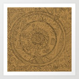 Gold Etching Art Print