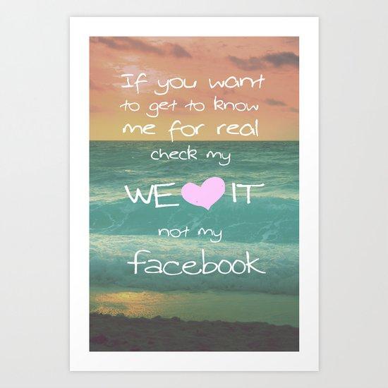 LOVE WE*HEART*IT Art Print