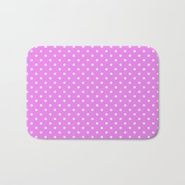 Dots (White/Violet) Bath Mat