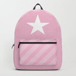 White Star On Pink Background Backpack