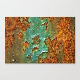 Rust and Deep Aqua Blue Abstract Canvas Print