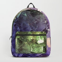 Two Tone Crystal Geode Backpack