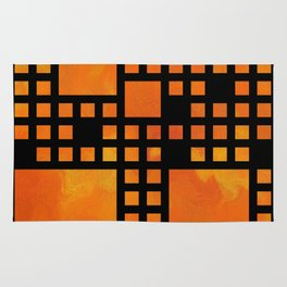 Visopolis V1 - orange flames Rug