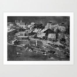 WINNIPEG DOCKS Art Print