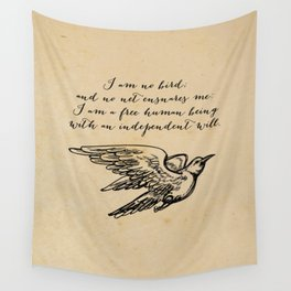Jane Eyre - No bird - Bronte Wall Tapestry