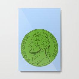 Green Nickel Metal Print