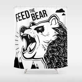 Bears and Mountains Shower Curtain