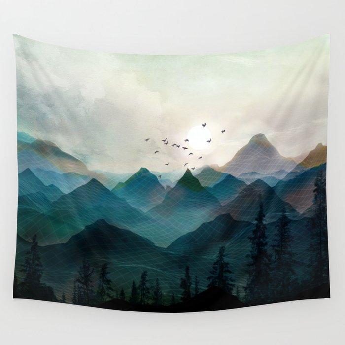 Mountain Sunrise II Wall Tapestry