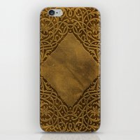 book cover iPhone & iPod Skins featuring Vintage Ornamental Book Cover by Nicolas Raymond