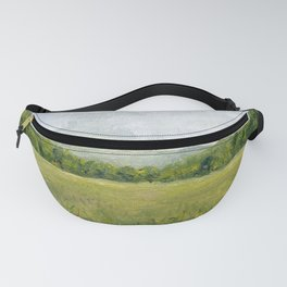 Vermont Landscape Mountain Fields Trees Pastures Oil Painting Fanny Pack