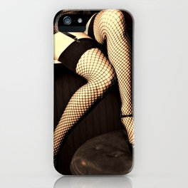 netting no. 1, sepia and gold iPhone Case