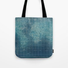 Grunge World Map Tote Bag
