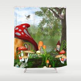 Dwarves Land Shower Curtain