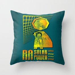 Ra Solar Power Throw Pillow