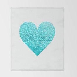AQUA HEART Throw Blanket