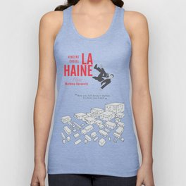 La Haine (Hate) Vincent Cassel, Mathieu Kassovitz, alternative movie poster, banlieue french film Unisex Tank Top
