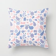 Colors Of The Year Doodle - Rose Quartz & Serenity - Pantone Throw Pillow