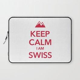 KEEP CALM I AM SWISS Laptop Sleeve