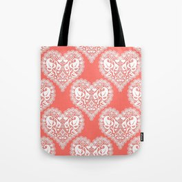 Lace heart Tote Bag