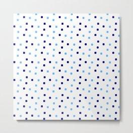 square and tartan 98- blue Metal Print