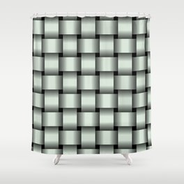Large Pastel Green Weave Shower Curtain