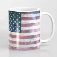 patriotic Mugs featuring PATRIOTIC by alfboc