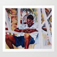 jamaica Art Prints featuring jamaica 2 by CarolBoerckel