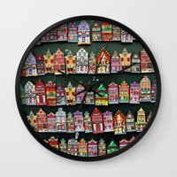 amsterdam Wall Clocks featuring Amsterdam by Joke Vermeer