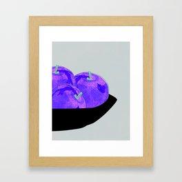 Apples in bowl kitchen art print Framed Art Print
