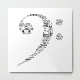 Typographic Fa key Metal Print