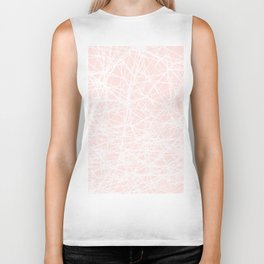 Contemporary  White Line Art on Pink-Mix & Match with Simplicity of life Biker Tank