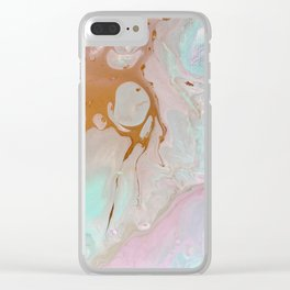 Pastels feat. Gold. Clear iPhone Case
