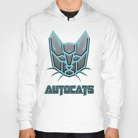 transformers Hoodies featuring Autocats Transformers by Enrique Valles