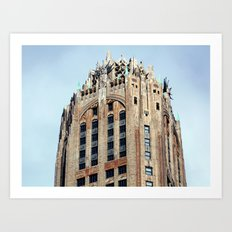 Looking Up on the streets in NYC Art Print