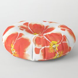 Poppies pattern Floor Pillow