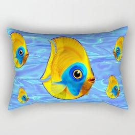 Tropical Fish on Clear Ocean Water 3D Rectangular Pillow