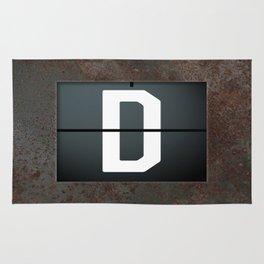 monogram schedule d Rug