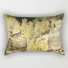"""Wildlife at the Bad lands. Mountain goat"" Rectangular Pillow"