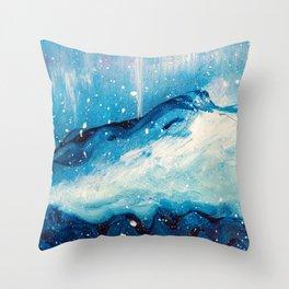 Nordic Mountain Throw Pillow
