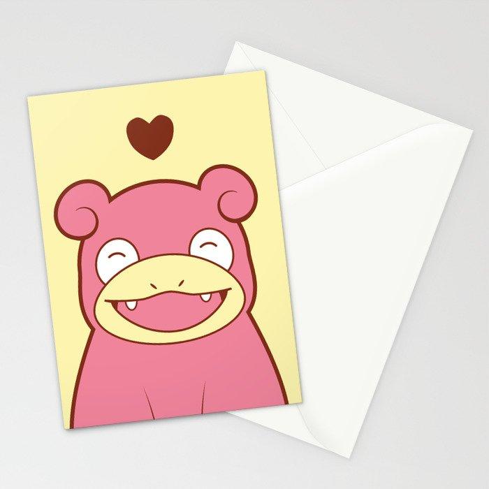 Slowpoke Love Stationery Cards
