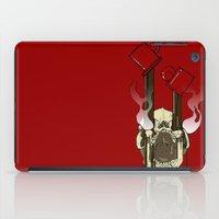pocket fuel iPad Cases featuring Skull Fuel by Allbrotnar