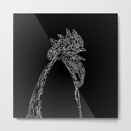 crowing Metal Print